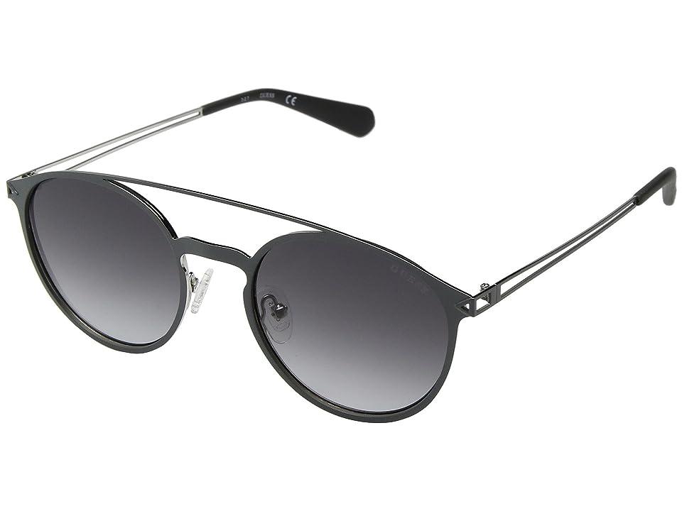 GUESS GU6921 (Matte Gunmetal/Gradient Smoke) Fashion Sunglasses