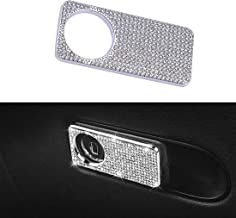 ygmoner Car Interior Bling Decals Stickers Car Co-Pilot Storage Box Switch Handle Sticker Cover for Mercedes-Benz GLK CLS GL C/E/S/A Class 2018-2019