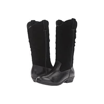 SoftWalk Rock Creek (Black Smooth Leather/Cow Suede) Women