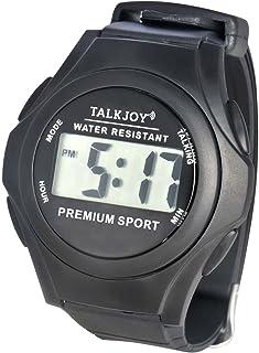 Wodoodporny zegarek na rękę, mówiący dla seniorów, niewidomy, funkcja głosowa, wyświetlanie czasu, rozmowy budzik, ochrona...