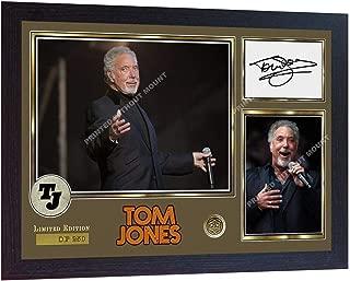 S&E DESING Tom Jones Signed Print Photo Autographed Poster Music Framed