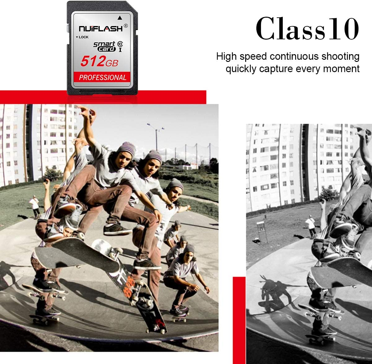 SD Card 512gb,Memory Card 512GB TF Card,Memory Card 512GB Class 10 High Speed Compatible Computer Camera and Smartphone (512GB)