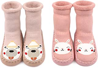 Calcetines Zapatos Antideslizantes Forros Bebé 2 Pare