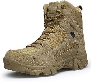 AONEGOLD Hombres Botas de Senderismo Zapatos de Trekking Botas Tácticas Transpirables Militar Senderismo Zapatos Botas de ...