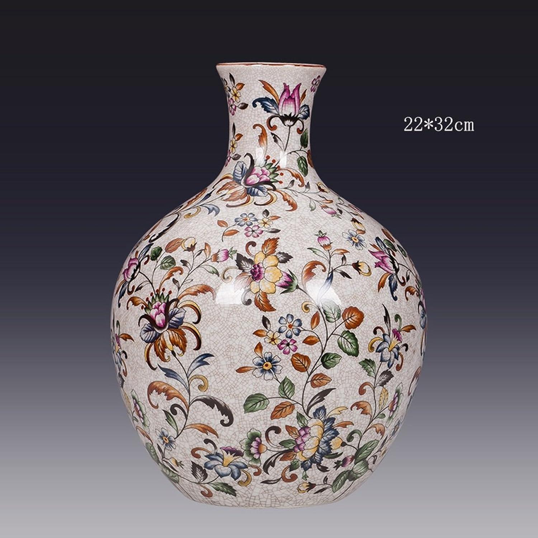 Vase GAOLILI Poterie créative Lotus céleste Bouteille Cire Fleur Pot Moderne Maison TV Armoire inséré (Taille   D)