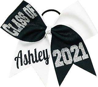 """Class of"" Senior Tick Tock Cheer Hair Bow - Graduation Gifts"