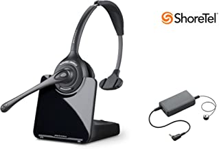 ShoreTel Compatible Plantronics CS510 VoIP Wireless Headset Bundle with Electronic Remote Answer End and Ring Alert (EHS) for ShoreTel 100 212 230 230G 265 420 530 560 560G 565 565G
