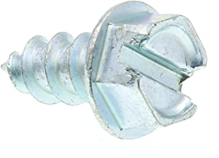 Prime-Line 9025687 Sheet Metal Screw, Self-Tapping, Slotted Hex Washer Head, 12 X 1/2 in, Zinc Plated Steel, Pack of 100
