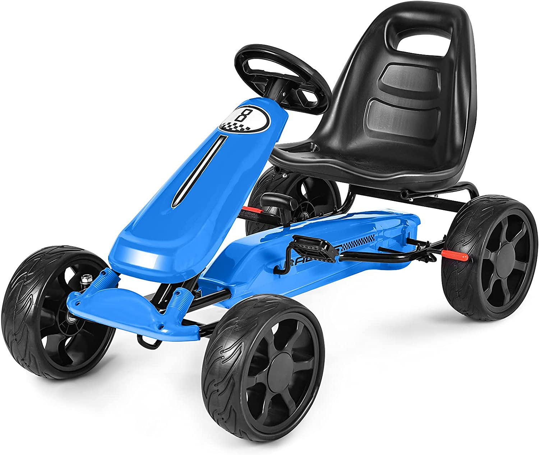 HONEY JOY Pedal Baltimore Mall Go Kart 4-Wheel 2-Position Ride Car w Las Vegas Mall On