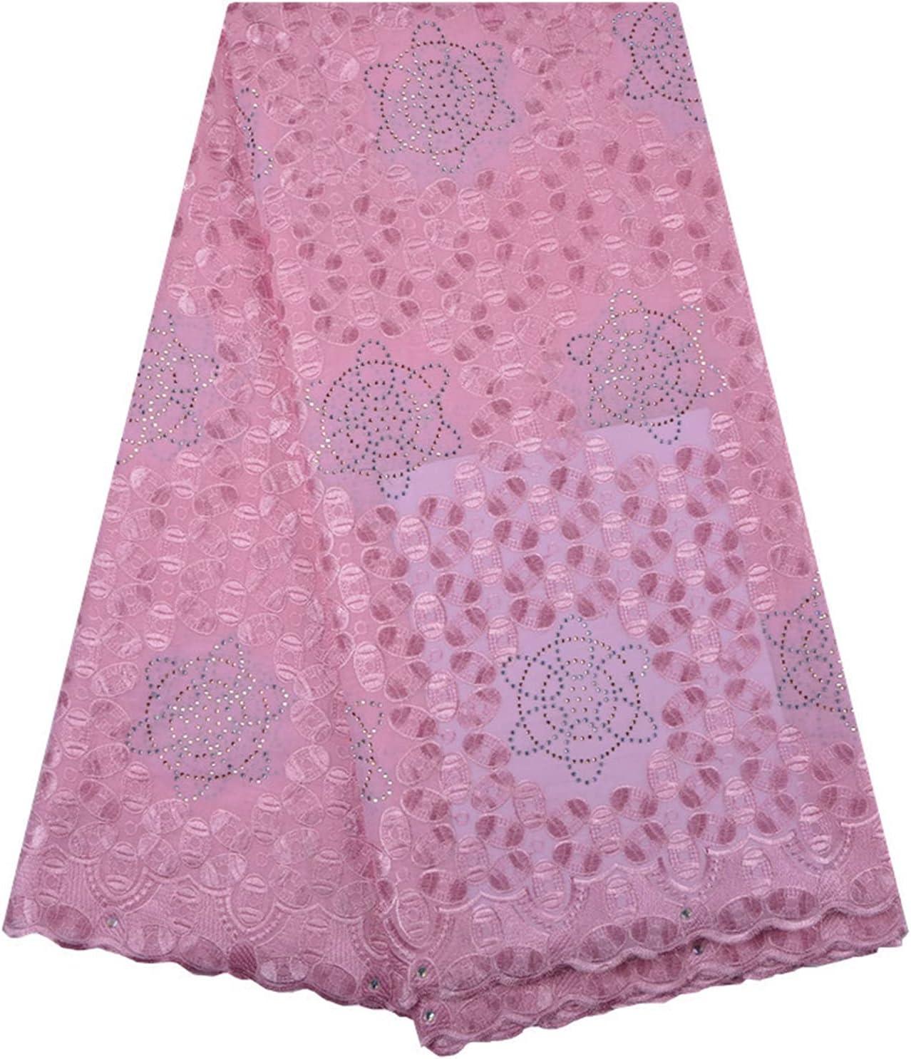 SHUYANshiyu White Lace Fabric Surprise price Same day shipping Elegant in Gems Cotton Tulle