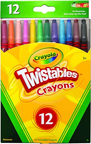 CRAYOLA 52 7412 12 Twistables Crayons 12 Pack, Twist for Fun, Back to School, Book-List, Art and Craft, Classroom, Ed...