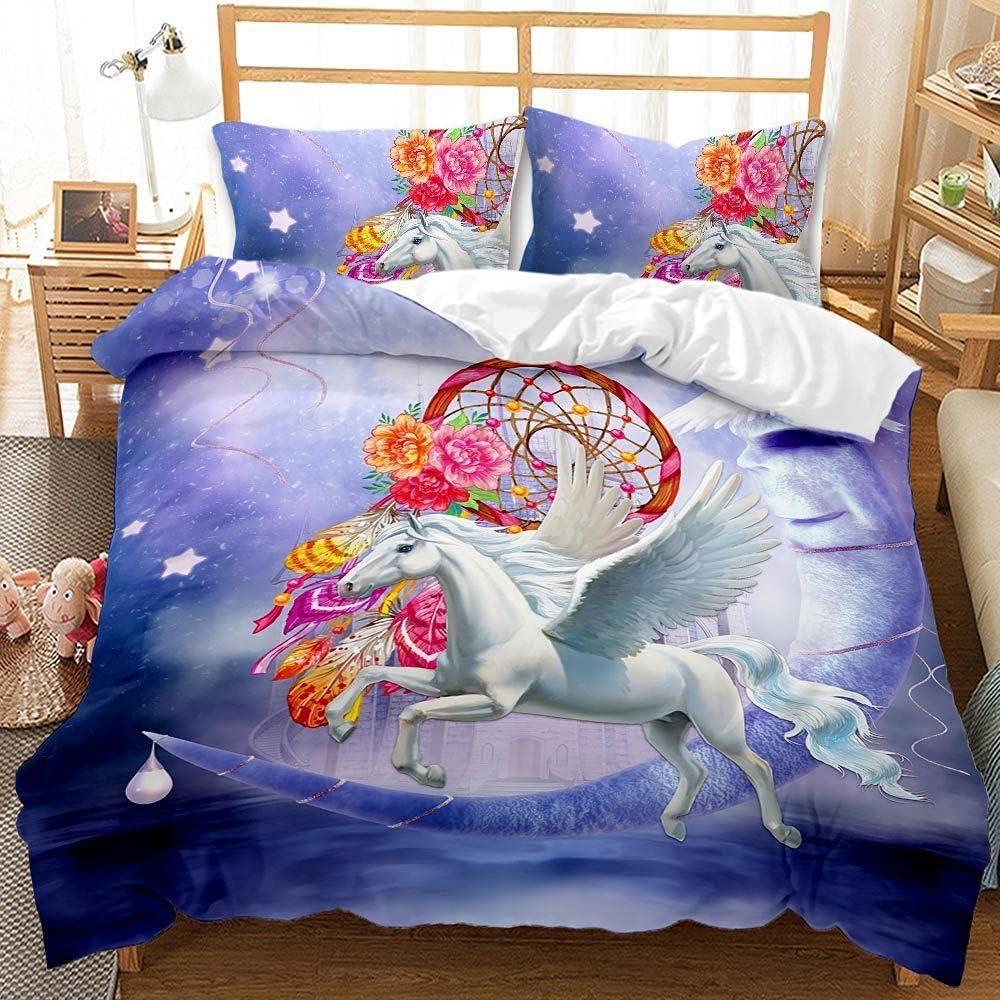 MJWLKJ 3D Pattern Superior Bedding Set for Microfiber Girls Soft 100% Alternative dealer Hor
