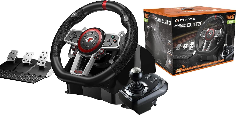FR-TEC - SUZUKA ELITE NEXT Volante con Pedales y Cambio Manual (Series X, Playstation 4, Xbox One, Playstation 3, Switch y PC) (Xbox Series X)