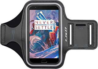 J&D Armband Compatible for OnePlus 7 Pro (5G)/OnePlus 7/OnePlus 6T/OnePlus 6/OnePlus 5T/OnePlus 5/OnePlus 3T/OnePlus 3 Armband, Sports Running Armband with Key Holder Slot and Earphone Connection