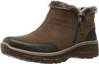 حذاء برقبة حتى الكاحل إيزي جونج-زيب إت للنساء من سكيتشرز
