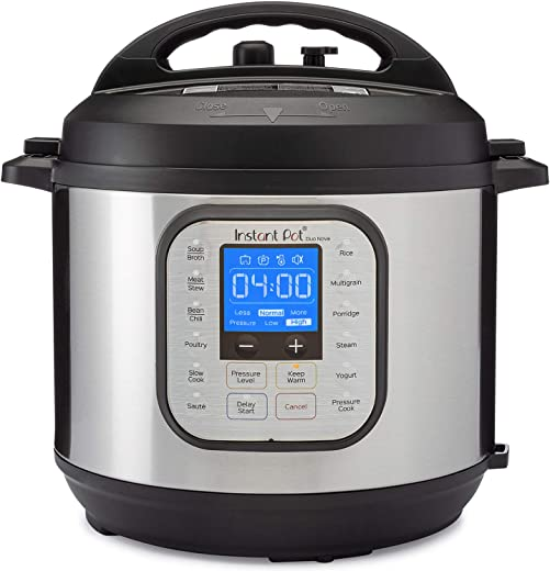 Instant Pot Duo Nova 7-in-1 Electric Pressure Cooker, Sterilizer, Slow Cooker, Rice Cooker, Steamer, Saute, Yogurt Maker, and Warmer, 6 Quart, Easy-Seal Lid, 14 One-Touch Programs