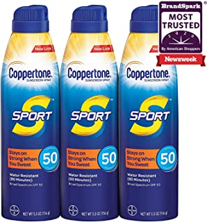 Sport Continuous Sunscreen Spray Broad Spectrum SPF 50 Multipack (5.5 Ounce Bottle, Pack..
