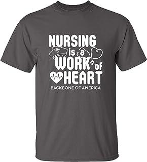 Trenz Shirt Company Nursing Heart Short Sleeve T-Shirt