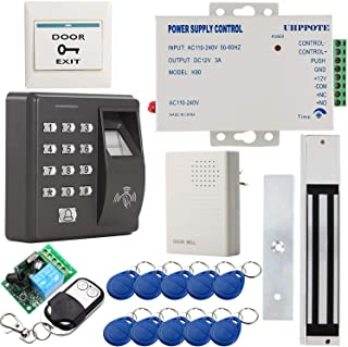 UHPPOTE Biométrico Huella Digital Dactilar & RFID ID Tarjeta Independiente Control Acceso Kit W / 280KG 600lbs Fuerzas Cerradura Magnética