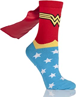 Ladies 1 Pair DC Wonder Woman Cape Socks