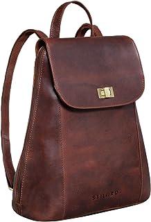 """STILORD Victoria II"""" Lederrucksack Damen Vintage Rucksack für 13 Zoll MacBook DIN A4 Elegante Rucksackhandtasche für City Ausgehen Shopping Daypack"""
