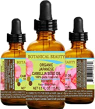 Japanese ORGANIC CAMELLIA Seed Oil. 100% Pure / Natural / Undiluted / Refined / Cold Pressed Carrier Oil. Rich antioxidant...