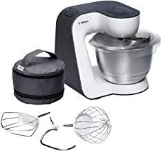 Bosch MUM54A00 Keukenmachine, Roestvrijstalen Mengkom, 3,9 Liter, Wit