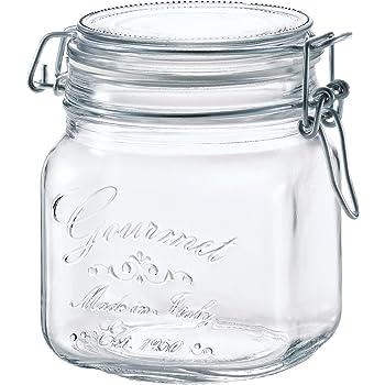 アデリア ガラス 保存瓶 角型 クリア 750ml フーディージャーBOR イタリア製 H-7557