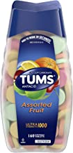 TUMS Antacid Chewable Tablets for Heartburn Relief 160ct, Ultra Strength, Assorted Fruit