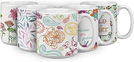 Paisley 20 OZ. Oversized Ceramic Coffee Mug