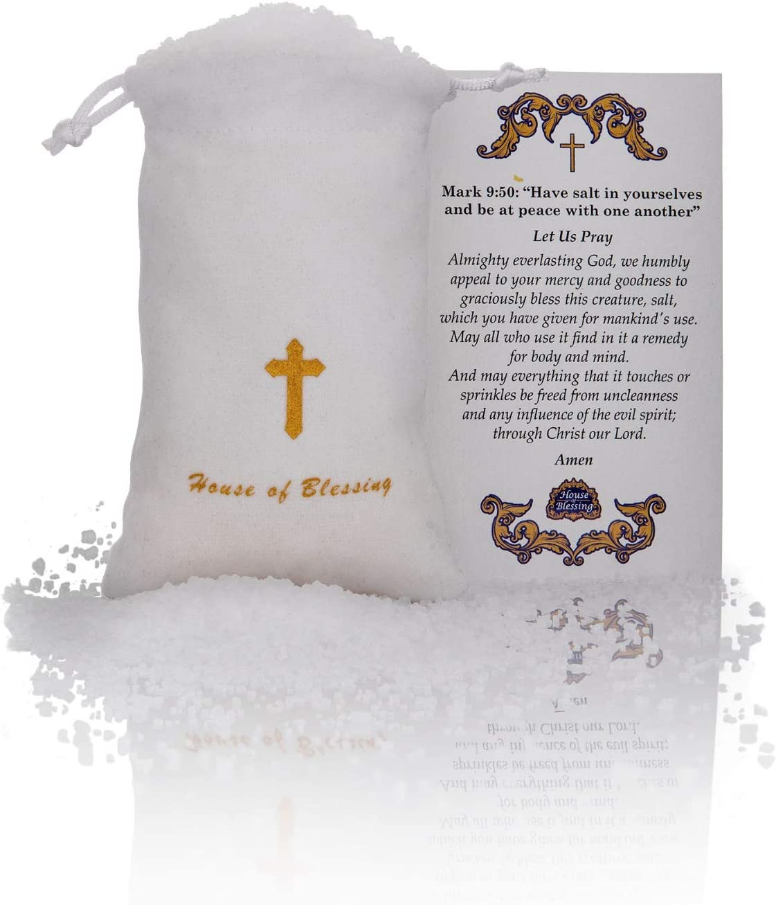 Blessing Salt from The Dead Sea with a Blessing Card (5.3 ounces/150gr)