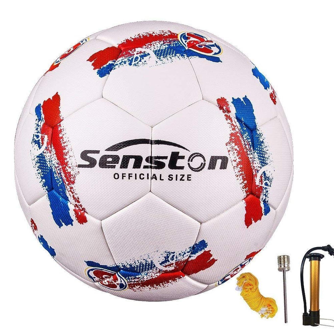セマフォキリスト変わるSenstonシームレスサーマルボンディングボールサイズ 4子供サイズ / 5公式サイズ サッカーボール