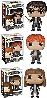 Funko POP de Harry Potter Figuras de acción, set de vinilos coleccionables: Harry Potter, Hermione, y Ron Weasley