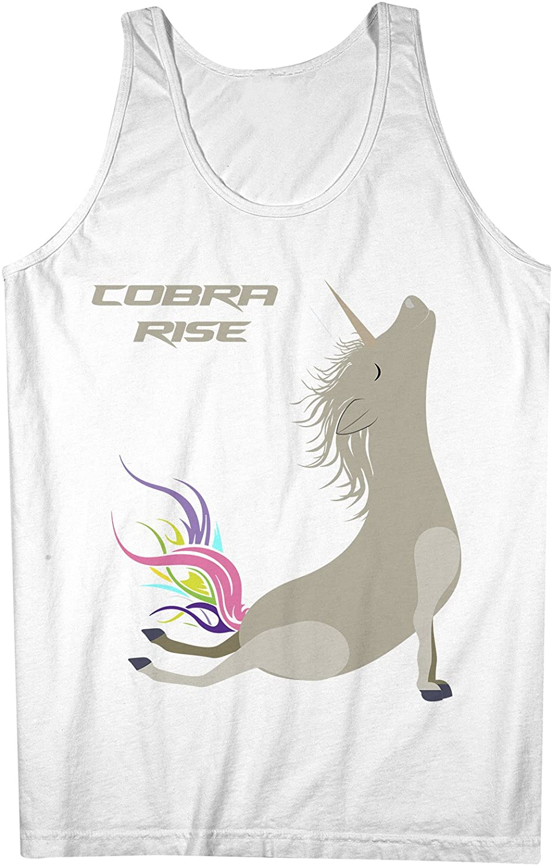 Yoga Unicorn Cobra Rise Pose おかしいです 男性用 Tank Top Sleeveless Shirt
