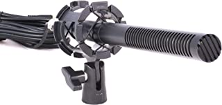 Interview Shotgun Microphone, Ruittos V120S Pro Broadcast-Quality Mic with Foam Windscreen for DSLR Camera, Battery or Phantom Power for Professional Film, SLR/DSLR Camera, Video Camera, Smartphones,
