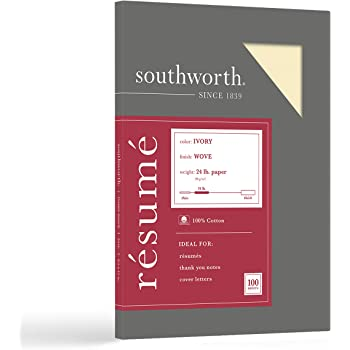 Amazon Com Southworth Resume Paper 100 Cotton 8 5 X 11
