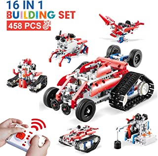 DAZHONG 16 in 1 Remote Control STEM Building Blocks Robot RC Car Kit Building Set Kids Toys Age 6 -14 Perfect Educational Toy Gift for Kids