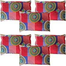 """Amrange Cotton 152TC Pillow Cover (17""""X27"""" _Multicolour)"""