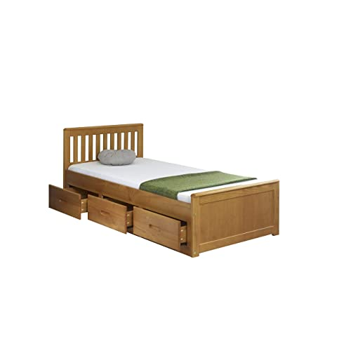 e57a44c0394 3 0 Single Mission Storage Bed in Honey with 3 Drawer Storage