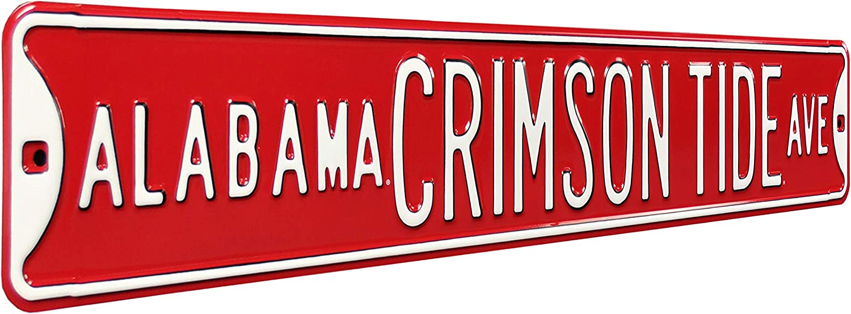 Authentic Street Popular standard Signs 70025 Alabama Heavy Crimson Ave Reservation Dut Tide