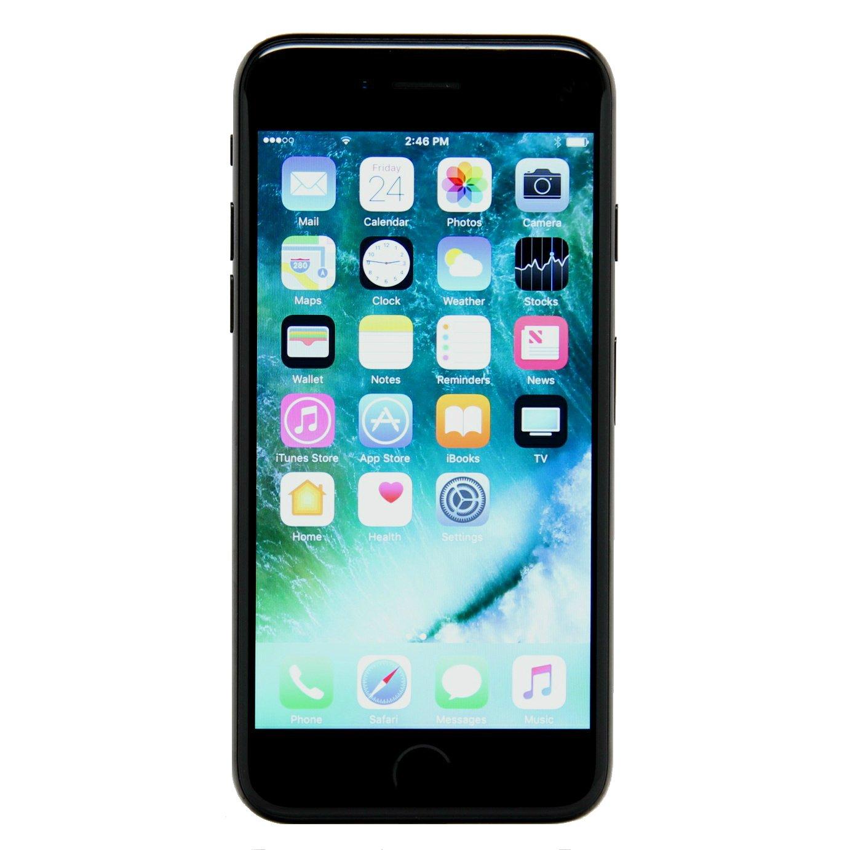 Apple iPhone 7 256GB Unlocked GSM 4G LTE Quad-Core Smartphone - Jet Black (Renewed)