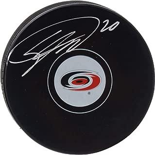 Sebastian Aho Carolina Hurricanes Autographed Hockey Puck - Fanatics Authentic Certified - Autographed NHL Pucks