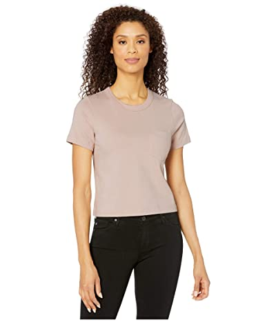 Alternative Heavyweight Recycled Cotton Cropped Pocket Tee (Rose) Women