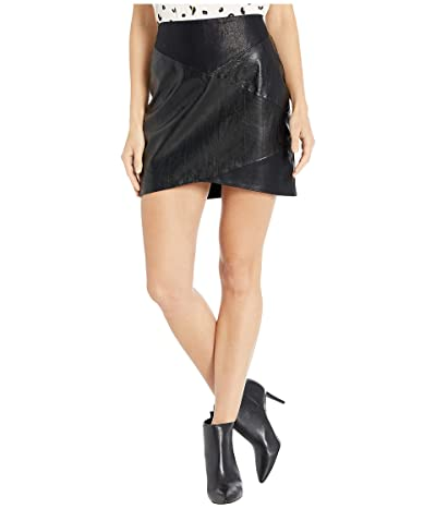 Blank NYC Faux Leather Mini Skirt (Sable) Women