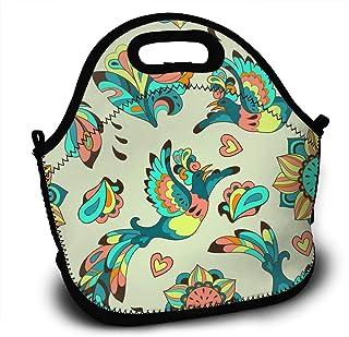 King Fong Phoenix Bird Travel Insulated Lunch Bags For Women Men Kids Girl Reusable Lunch Box For Work School Nurse Outdoor Travel Picnic