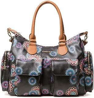800b4254a9 Desigual Bag Mandri London Women, Sacs portés épaule femme, Noir (Negro),