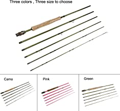 """Aventik Z Fly Fishing rods Best Value 6 Pieces Travel Rods 8'9"""" LW4/5, 9'1'' LW5/6, 10'3"""" LW2/3, Three Fashion Colors, Fast Action, Light Weight, Super Compact Fly Rod"""