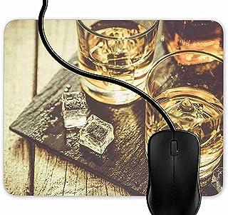 SGSKJ Alfombrilla de Ratón para Gaming de Alfombrilla de Cuadrado Mouse Pad Whisky en Hielo Discernante