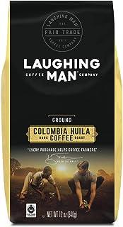 Laughing Man Columbia Huila, Ground Coffee, Dark Roast, Bagged 12 oz