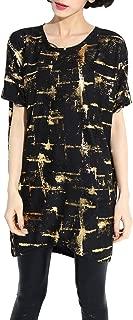 Women Casual Sheer Distressed Print Shirtdress OneSize SZ148